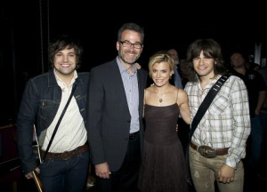 left to right: Neil Perry, Steve Buchanan -President, Grand Ole Opry Group, Kimberly Perry and Reid Perry